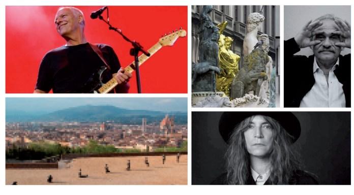 David Gilmour, jeff koons, Jannis  Kounellis, Antony Gormley, Patti smith