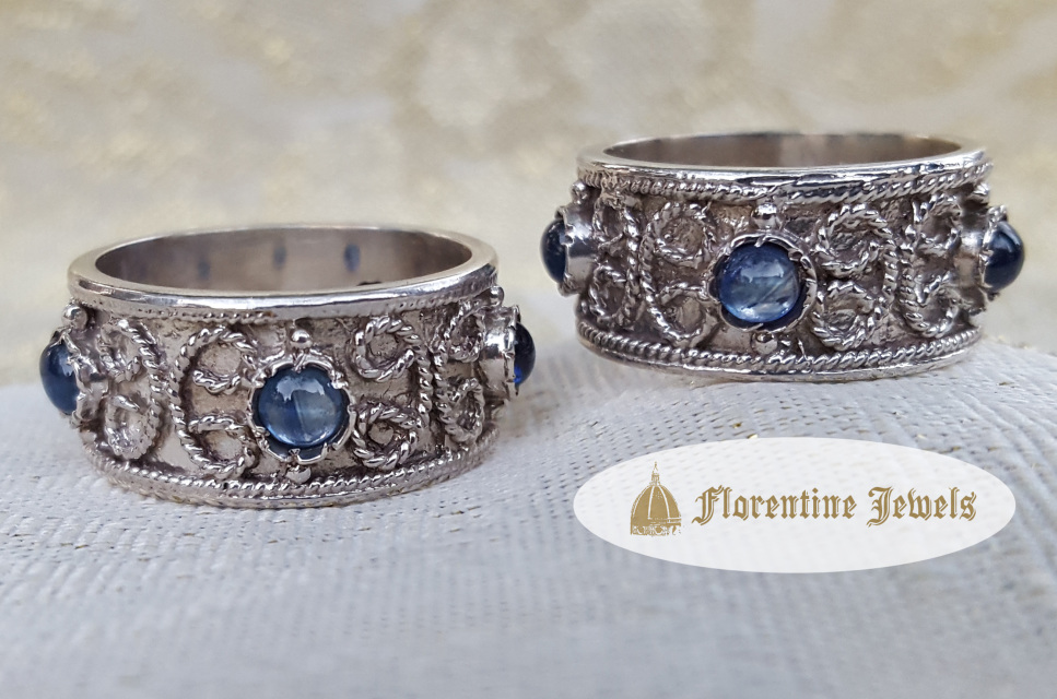 Italian Renaissance Wedding Bands Matching His And Hers
