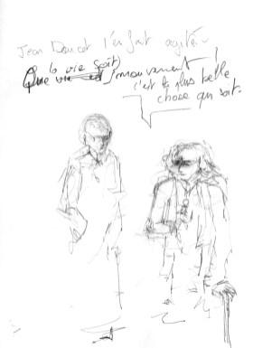 Jean Douchet et Saïd Ben Saïd , présentent les films de la sélection du festival rêvé .