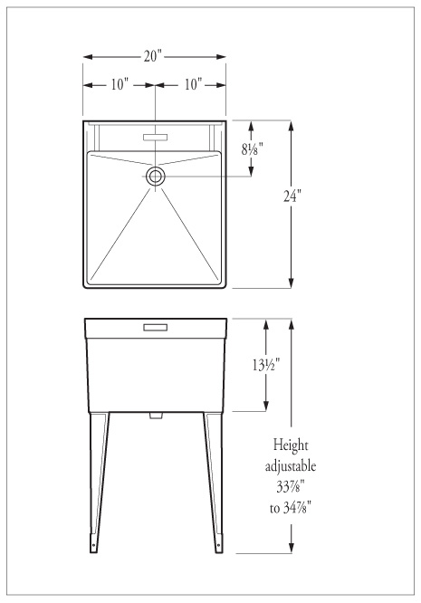 Dimensions Drawing Table