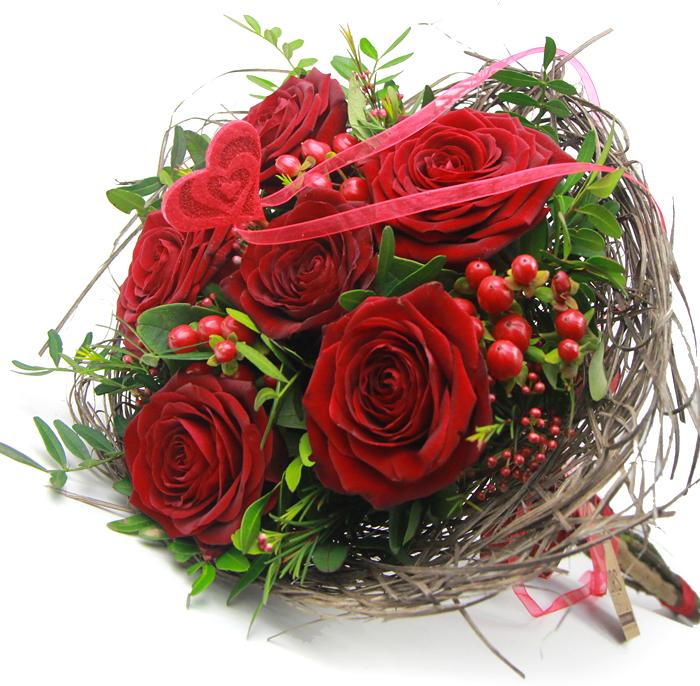 Bouquet de rosas de san valentin