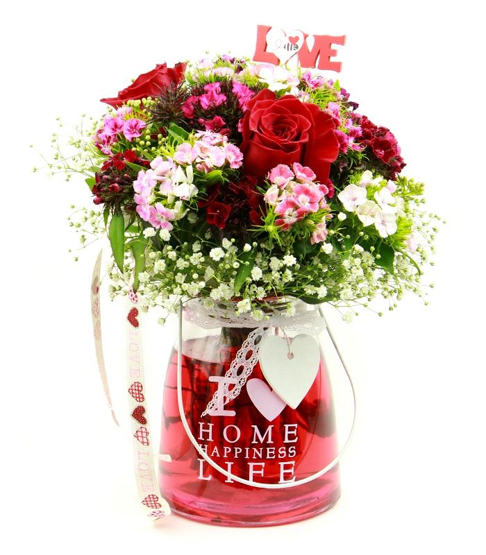 Bouquet de flores para San Valentín