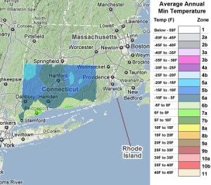 Connecticut usda zones