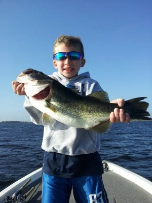 John Piccinich caught this in area lake near Disney fishing a fluke