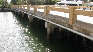 This bridge on West Lake Drive in Fort Lauderdale's Harbor Beach neighborhood is one of seven city bridges targeted for replacement.  Photo: Ann Henson Feltgen