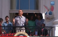 President Obama opening this year's White House Easter Egg Roll