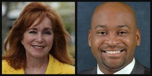 State Sen. Eleanor Sobel, D-Hollywood and State Sen. Oscar Braynon II, D-Miami Gardens