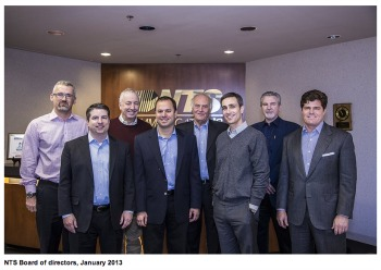Alan Bazaar, third from right, with other members of the board of directors of NTS communications