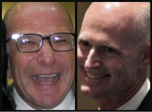 "Lobbyist William ""Billy"" Rubin, left, and Gov. Rick Scott"