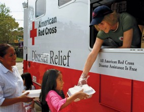 "Corporate exec Gail McGovern became the Red Cross CEO in 2008. She called the charity ""a brand to die for."""