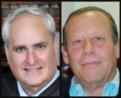 Broward Chief Judge Peter Weinstein, left, and Public Defender Howard Finkelstein