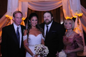 From left to right are Josh's father, Mitch Stein, sister Megan Stein, Josh, and his mother, Kathy Stein.