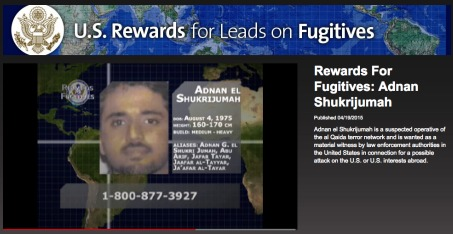 Screenshot of video offering U.S. reward for information leading to capture of Adnan El Shukrijumah, posted by the Voice of America on April 15.