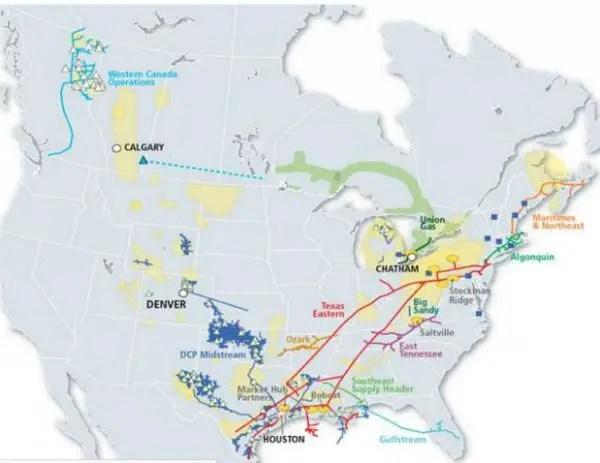 Spectra Energy's pipelines