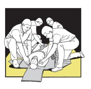 The Wrap Mat. Nearly every day at AdvoServ, residents are strapped into mechanical restraints which were considered so inhumane that the United Kingdom banned them in asylums in the 1800s. They have also been mostly abandoned in the U.S. Workers force a person trying to hurt themselves or others to lie down. Credit: Hiram Henriquez for ProPublica.