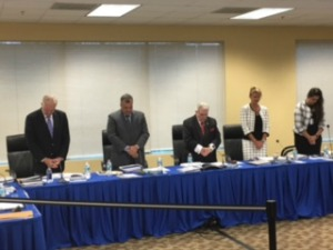 Broward Health's board during Wednesday's invocation