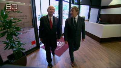 Former Florida Sen. Bob Graham, left with Steve Kroft of 60 Minutes