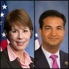 U.S. Reps. Gwen Graham and Carlos Curbelo