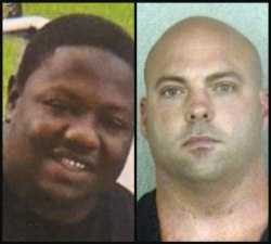 The late Steven Jerold Thompson, left, and suspended BSO Deputy Gerald Wengert