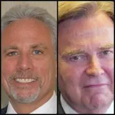 Defense lawyers Marc Nurik, left, and J. David Bogenschutz