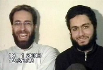 9/11 suicide hijack pilots Mohamed Atta, right, and Ziad Jarrah. The two men apparently visited the home of Saudis living in the Sarasota area.