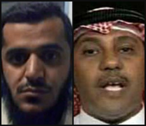 Suspected Saudi agent and friend to 9/11 hijackers Omar al-Bayoumi, right, and former Saudi diplomat and Los Angeles Imam Fahad-al-Thumairy