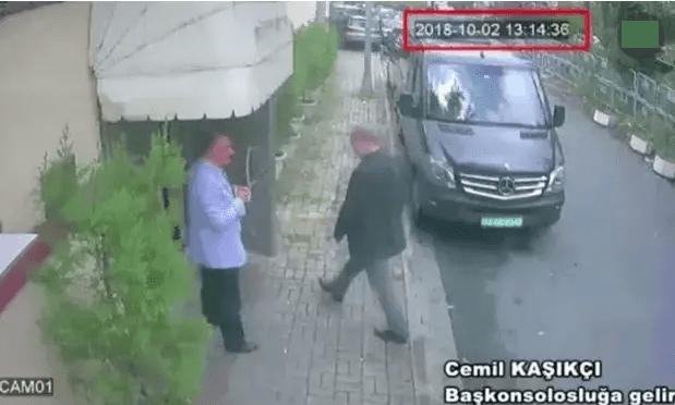 Jamal Khashoggi entering Saudi consultate in Instanbul