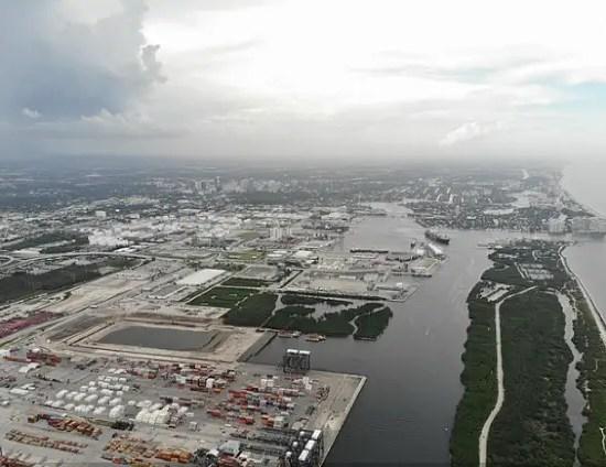 Aerial of Port Everglades