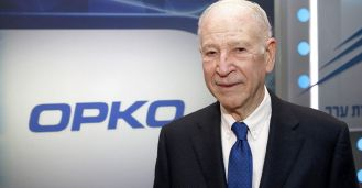 Phillip Frost before OPKO logo