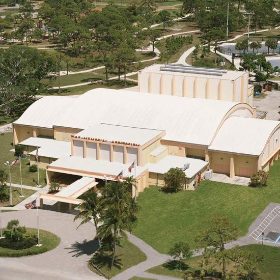 aerial view of war memorial auditorium