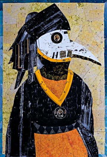 Sharp Edges-Mansur-Ancestor female 15 X 22