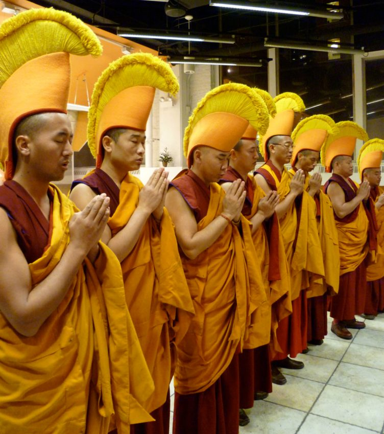 Monks mandala making