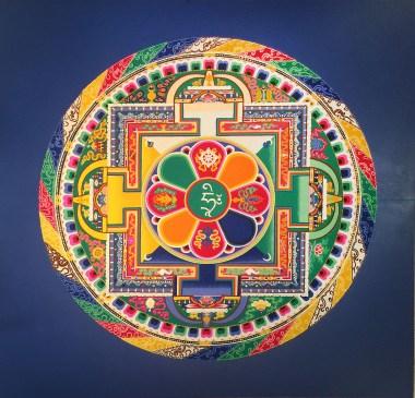 finished Mandala at florida craftart