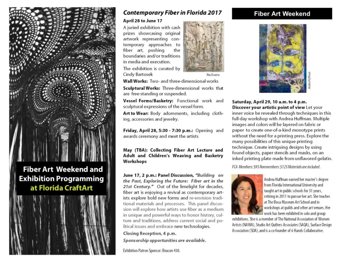 Fiber Arts Weekend Email Flyer page 1
