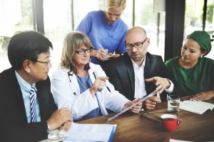 Doctor Meeting Teamwork Diagnosis Healthcare Concept