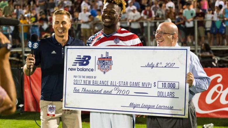 MLL:  Myles Jones Wins All-Star Game for Team Stripes 21-20 in OT