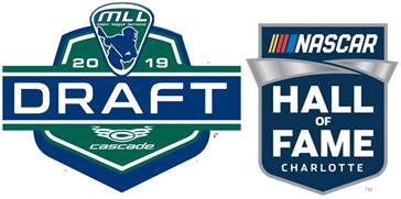 MLL 2019 Collegiate Draft Presented By Cascade To Be Held at NASCAR Hall of Fame