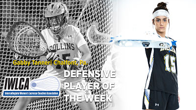 Rollins Women:  Tanner Named IWLCA Defensive Player of the Week!