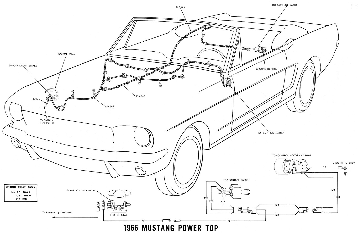 66 Mustang Wire Harness Routing