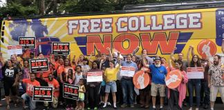 bus for free college