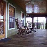 Front porch of cabins at Lake Louisa State Park near Orlando