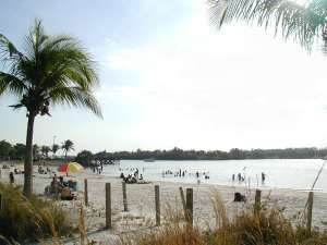 Beach at Oleta River State Park