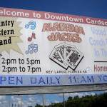 The honky-tonk sign out front proclaims the location as Downtown Card Sound