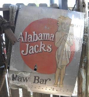 Alabama Jack's Raw Bar sign