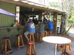 The tiki bar at Wekiva Island marina