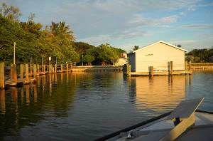 View from the boat: Cap's Place Island Restaurant, Lighthouse Point