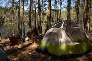 Tent camping at Suwannee River State Park