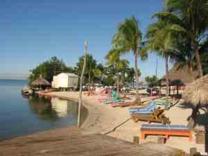 Sandy beach and jet-ski rentals at Gilbert's