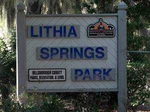 Lithia Springs Park sign