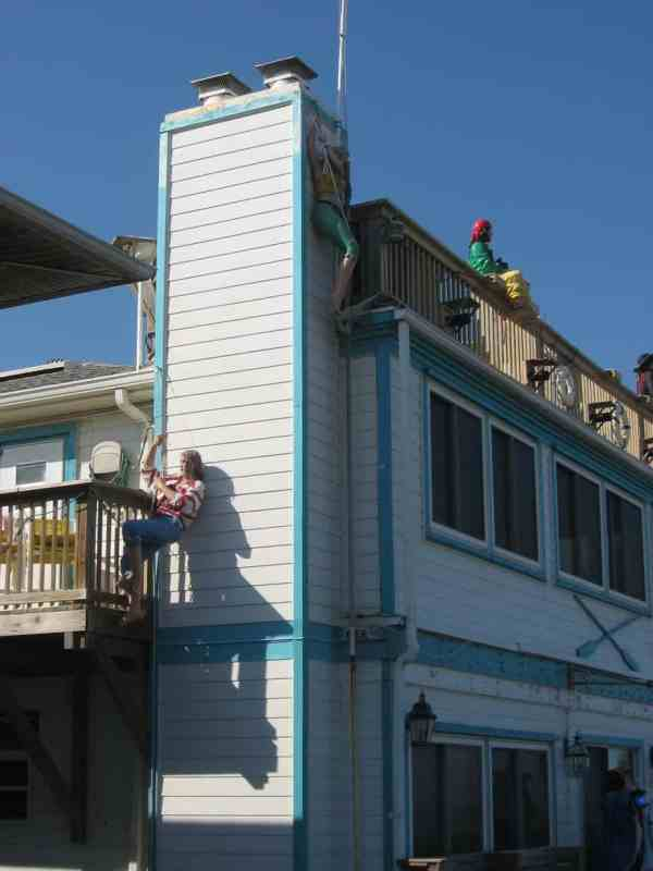 Pirates guard beach cottage